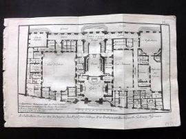 Diderot 1780's Antique Print. Architecture 16 Plan Penthemont Abbey